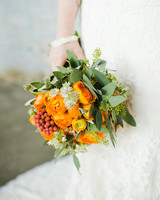Bright Red and Orange Bouquet