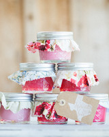 Pink and Red Jelly Favors
