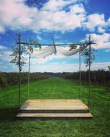 Noah Bean's Handmade Wedding Chuppah