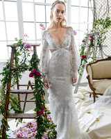 long sleeves v-neck marchesa wedding dress spring 2018