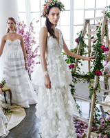 v-neck lace marchesa wedding dress spring 2018