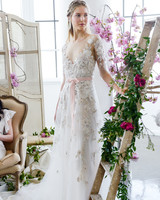 a-line lace marchesa wedding dress spring 2018