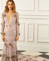 maria korovilas wedding dress spring 2017 deep V long sleeves