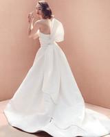 large bow strapless lace a-line wedding dress Oscar de la Renta Spring 2020