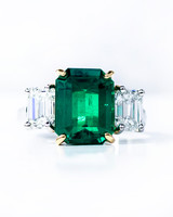 Oscar Heyman Emerald Engagement Rings
