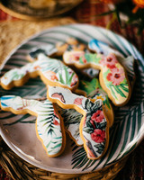 wedding desserts florida state shaped decorated cookies