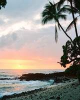 rebecca eryck wedding hawaii sunset beach