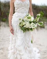 scalloped wedding decor flowing dress