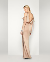 gold bridesmaid dress