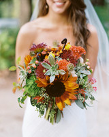 orange sunflower bouquet