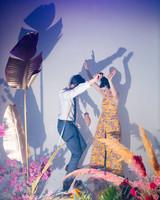 tashina huy colorful wedding dancing