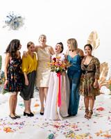 tashina huy colorful wedding friends