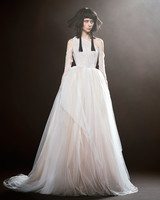 vera wang wedding dress spring 2018 sheer ballgown one-shoulder