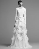 viktor rolf wedding dress fall 2018 tulle high neck long sleeve