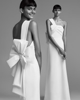 viktor rolf wedding dress fall 2018 one shoulder sheath bow