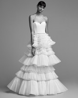 viktor rolf wedding dress fall 2018 embellished tulle tiered