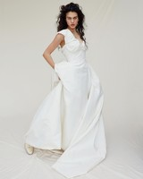 vivienne westwood wedding dress Spring 2019 a-line ruched neckline