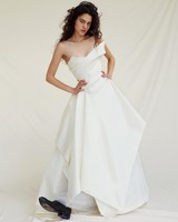 vivienne westwood wedding dress Spring 2019 strapless asymmetrical a-line
