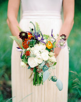 Asymmetrical Wedding Bouquet