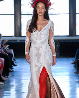 willowby watters wedding dress spring 2019 long-sleeve lace slit