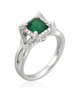 Yael Designs Emerald Engagement Ring