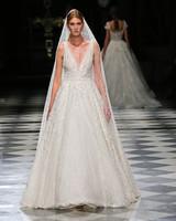 yolancris embellished v-neck a-line wedding dress spring 2018