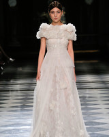 yolancris lace rose embellished wedding dress spring 2018