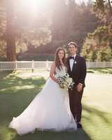 alessa andrew wedding couple smiling