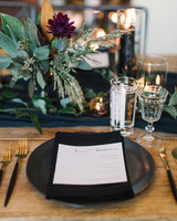 wedding placesetting black