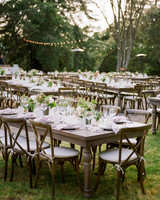 amanda chase wedding reception tables outdoors