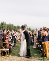 amanda chase wedding recessional couple kiss