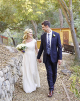 Angela Kinsey and Josh Snyder Wedding Portrait