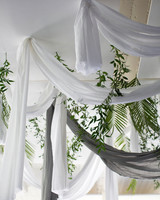 wedding overhead draping