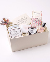 be my bridesmaid gift box with dried flowers