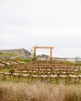 beach wedding site