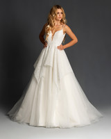 blush hayley paige spaghetti strap deep v a line wedding dress spring 2020