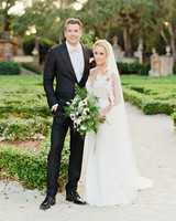 brette patrick wedding couple garden