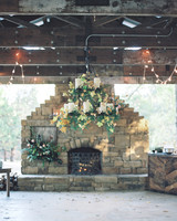 wedding fireplace chandelier