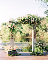 caitlin amit wedding ceremony arch