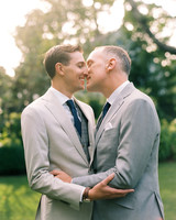 charles andrew wedding grooms outdoor kiss