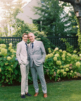 charles andrew wedding portrait outdoor hydrangea backdrop