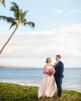bride and groom beach wedding