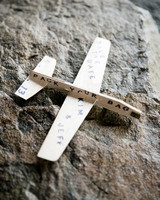 wooden plane save the dates
