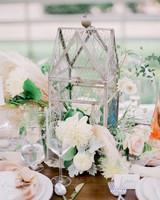 dahlia wedding centerpieces whimsical birdcage arrangement