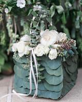 danielle kevin wedding flower girl basket