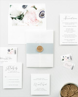 envelope invites shine wedding invitations