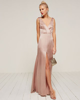 36 beautiful dresses to wear as a wedding guest this fall martha pink long gown junglespirit Choice Image