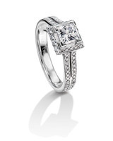 Furrer Jacot Princess-Cut Engagement Ring