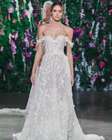 Galia Lahav Off-the-Shoulder Ball Gown Wedding Dress Fall 2018