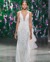 Galia Lahav V-Neck Sheath Wedding Dress Fall 2018
